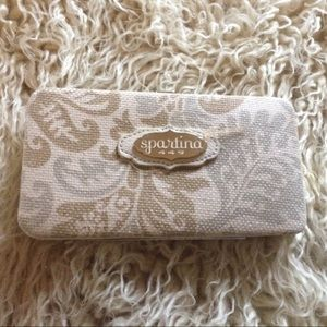 NWOT-Spartina 449 Linen & Leather Wallet